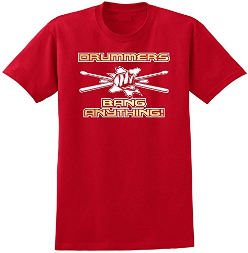 Drum Kit Bang Anything - Red Rot T Shirt Größe 87cm 36in Small MusicaliTee