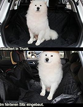 ELITIST Housse de siège auto de chien Imperméable Facile à nettoyer Housse de protection de banquette arrière de voiture Housse de siège de voiture en cuir,140*130cm Noir Tous les modèles s'appliquent