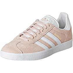 adidas Originals Gazelle, Zapatillas Unisex Adulto, Varios colores (Vapour Pink/White/Gold Metalic), 39 1/3 EU