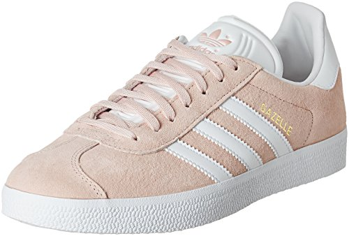 Adidas Unisex Adults Gazelle Low-Top Sneakers, Pink (Vapour Pink/White/Gold Met), 9 UK...