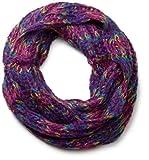 styleBREAKER bunter Grobstrick Loop Schlauchschal 01018110, Farbe:Violett