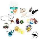 Amazy Katzenspielzeug Set – Interaktives Katzen Spielzeug für mehr Spaß