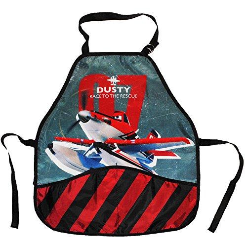 Unbekannt Kinderschürze -  Disney Planes / Dusty  - größenverstellbar mit 2 Taschen - Schürze / beschichtet - für Jungen - Kinder - Backschürze / Bastelschürze / Gart..