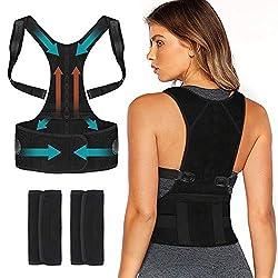 Nasharia Haltungstrainer, Geradehalter zur Haltungskorrektur Schulter Rückenstütze Rücken Haltungsbandage mit verstellbare Größe für Damen und Herren