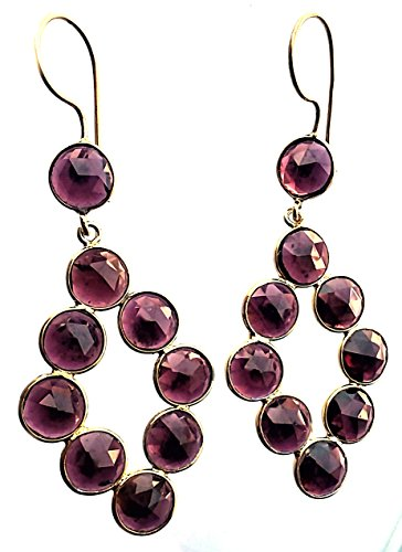 Regalia Royals 925 Sterling Silver Gold Plated Garnet Stone Jhumki For Woman