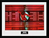 1art1 112866 2001: Odyssee Im Weltraum - Astronaut Red Gerahmtes Poster Für Fans und Sammler 40 x 30 cm