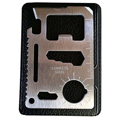 Romote 11 in 1 Funktion Kreditkartenformat Überlebens-Taschen-Werkzeug, Multi-Tool - 2er-Pack 1 Pack-tasche