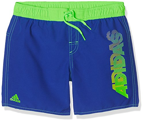 Adidas Y Lin SH CL Y Bañador, Unisex niños, Azul/Verde Reauni/Versol, 164