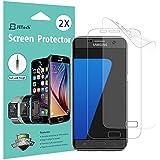Protection écran Galaxy S7, [Couverture Complète], JETech Lot de 2 TPE Film Protège d'écran pour Samsung Galaxy S7