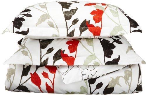 Divatex Grace Microfiber Duvet Full/Queen Mini Set, Red by Divatex Home Fashions (Queen-mini-duvet-set)