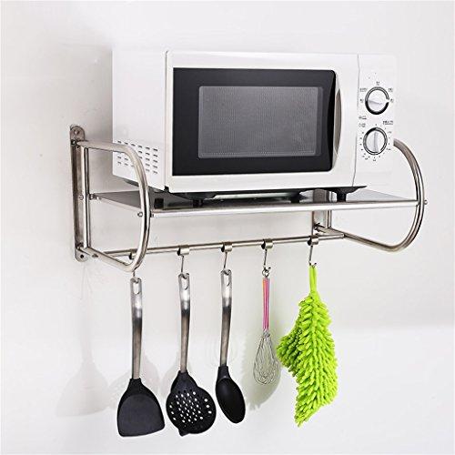 DSC Regal-Regale Mikrowellen-Ofen-Regal-Wand-hängendes Küchen-Regal-Edelstahl-Ofen-Regal enthaltenes Stent Pylon ( größe : 59cm )