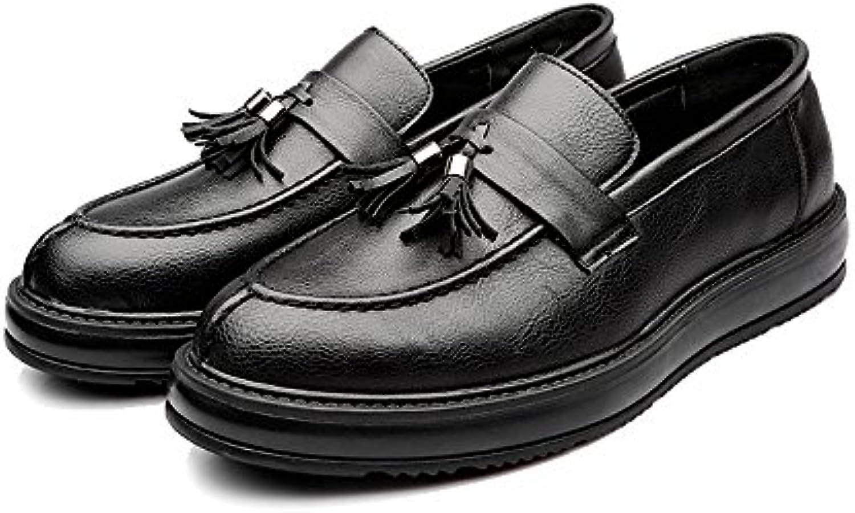 Jiuyue shoes  Sommer 2018 Herren Business PU Lederschuhe Klassische Slip on Loafers Quaste Anhaumlnger Dekoration