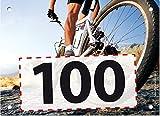 100 Startnummern Mountainbike, Papier classic-race, Format 20 x 14,5 cm (ca. DIN A5), nummeriert von Nummer 1