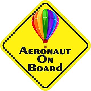 StickerTalk 5in x 5in Colorful Aeronaut on Board Magnet