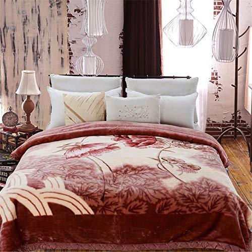 14EU-Haucalarm Raschel Decke gewichtet Fleece Nickerchen werfen kuscheln Couch gemütliche warme Glatte schwere Thanksgiving Hochzeit Weihnachten Geburtstagsgeschenk