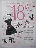 Atemberaubende Top Range Blättern Lovely Daughter 18. Geburtstag Grußkarte