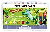 Eberhard Faber 524012 - Wachsmalkreiden dreiflächig, Tabaluga, 10er Set
