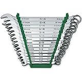 مجموعة مفاتيح براغي قياسية طويلة مكونة من 15 قطعة من 12 نقطة مترية بعدد 86265 - بلمسة نهائية فائقة كروم، مجموعة من 15 مفتاح ر
