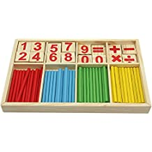 Caja de Matemáticas con Números Palillos Aprendizaje Juguetes Juegos Educativos para Niños Preschool