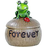 Monsiter Posacenere per la sigaretta posacenere creativa della rana con la decorazione domestica del coperchio