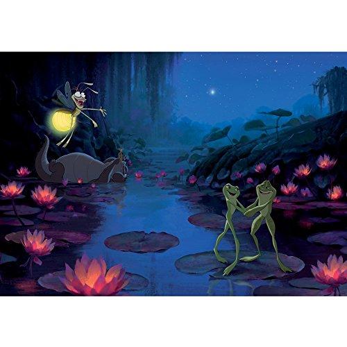 Vlies Fototapete PREMIUM PLUS Wand Foto Tapete Wand Bild Vliestapete - Küss den Frosch Prinzessin und der Frosch Cartoon Kindertapete - no. 3128, Größe:254x184cm Vlies (Jugend-frosch)