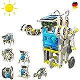 14 in 1 Roboter Konstruktions-Bauset mit Solar, Droide, Baukasten-SetSolar-Kit Elektrisches pädagogisches Konstruktions-Bauset mit Solar Wissenschaft Exprementieren, Antrieb durch Sonnenlicht