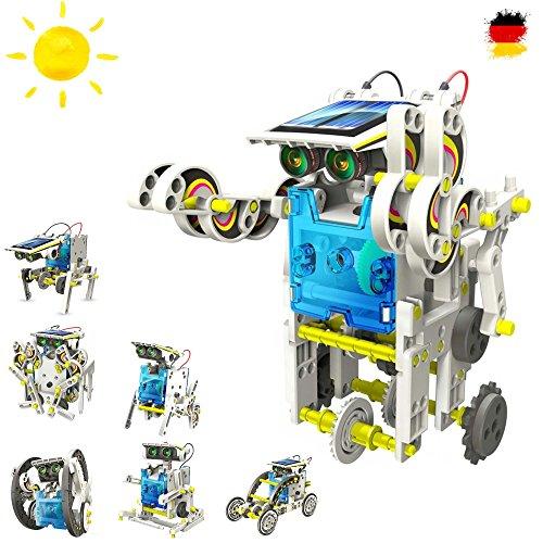 Roboter Konstruktions-Bauset mit Solar, Droide, Baukasten-SetSolar-Kit Elektrisches pädagogisches Konstruktions-Bauset mit Solar Wissenschaft Exprementieren, Antrieb durch Sonnenlicht