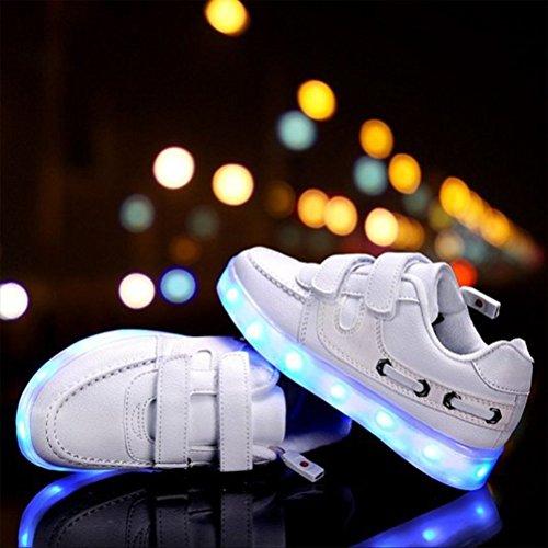 [Present:kleines Handtuch]JUNGLEST 7 Farben LED Kinder, Jungen, Mädchen führte leuchten Trainer Sneakers Turnschuhe Sportschuh c32
