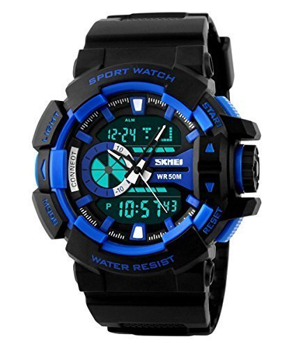Skmei Analogue-Digital Black Dial Boy's Watch - LYSB016VLLC44-SPRTSEQIP