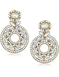 Meenaz Jewellery Gold Plated Ear Rings For Girls In American Diamond Earring For Women In Jewellery Necklace Earring-TR153