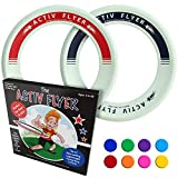 Activ Life Kids Wurfringe, Frisbee [Glow-in-The-Dark] 2er Pack - Cooles Outdoor-Spielzeug für Kinder, um draußen mit Familie und Freunden zu Spielen - Spaß für Mädchen und Jungen 4 5 6...