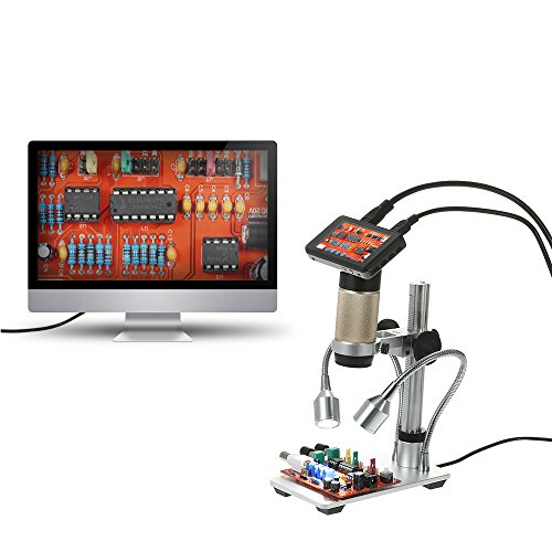"""KKmoon 300X HDMI 3.0MP Microscopio Video Digitale Elettronico 1080P Microscopio a Saldatura / Industriale Distanza Oggetto Lunga Display LCD da 3,0 \""""100-240 V"""