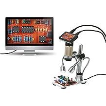 KKmoon1080P Microscopio electrónico 300X HDMI 3.0MP de soldadura Lupa LED portátil para el mantenimiento del
