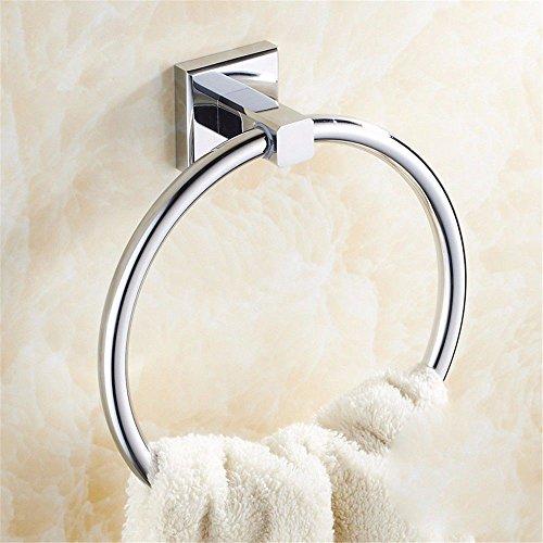 rentianleMJJ Handtuchhalter Handtuchring aus Edelstahl Handtuchhalter European Square Bathroom Handle armrest Pendant Bathroom Kitchen -