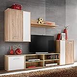 Xingshuoonline TV-Möbel für Das Wohnzimmer, 5-teilig, Eiche Sonoma, TV-Möbel, 1 x Wandmöbel: 60 x 30 x 80 cm (Breite x Tiefe x Höhe)