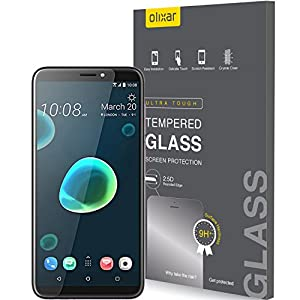 Olixar HTC Desire 12 Plus Screen Protector - Tempered Glass Screen Protection - 9H Rated - Shock Protection Clear