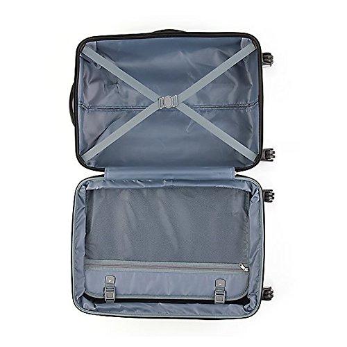 Koffer Set aus Polycarbonat und ABS Kunstoff - Handgepäck (25 Liter) und Reisekoffer (64 Liter) inkl. Zahlenschloss (London) London