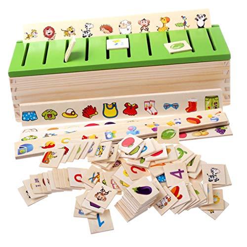 Sharplace Montessori Juegos Madera Carton 3D Clasificación