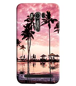 Blue Throat Beach Scene Printed Designer Back Cover/Case For Asus Zenfone 2 (ZE550KL)