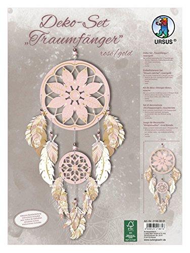 Ursus 21560001 - Deko Set Traumfänger, rosa/gold