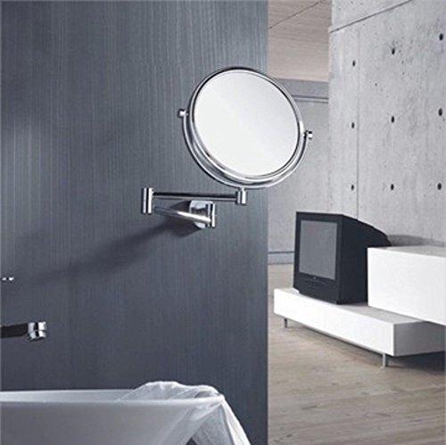 NBE Erweiterbare Make-up-Spiegel, Kosmetikspiegel, Bad Make-up-Spiegel, an der Wand hängenden...