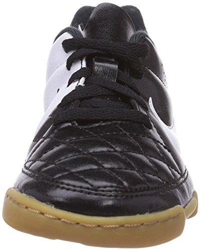 Nike Tiempo Rio II IC Unisex-Kinder Fußballschuhe Schwarz (Black/White)