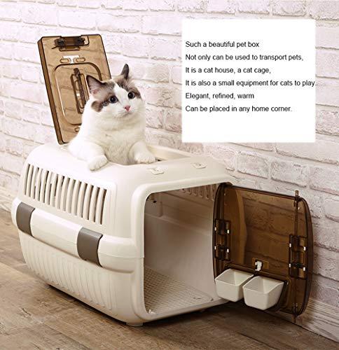 TIM-LI Haustierkäfig, tragbare Luftbox für Katzen, Transportkoffer für Sendungen, Haustierkoffer,60 * 41 * 38cm - Polycarbonate Carry On