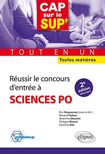 Réussir le concours d'entrée à Sciences Potout en un toutes matières - 2e édition mise à jour par Éric Duquesnoy