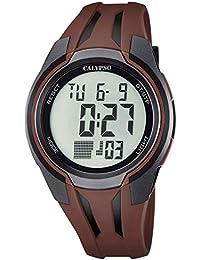 Calypso reloj de pulsera de hombre deportivo Digital con correa de poliuretano, Gris, de cuarzo, esfera negra, uk5703/5