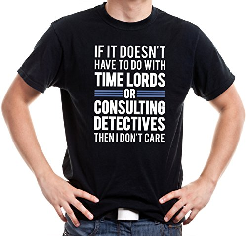 Getting Shirty Time Lords & Consulting Detectives (Inspired by Doctor Who & Sherlock) Men's T-Shirt (Small)