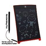 8,5 Pollici Lavagna Elettronica Tavoletta di Scrittura LCD con Penna Wireless Disegni di Animazione per Insegnante, Studenti, Progettista, Imprenditore Rosso