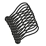 Yigo 10pcs Boule tendeurs élastiques Balles Sangle d'arrimage pour tentes, bâche, bas de couchage, Bannière, bâches, etc., noir