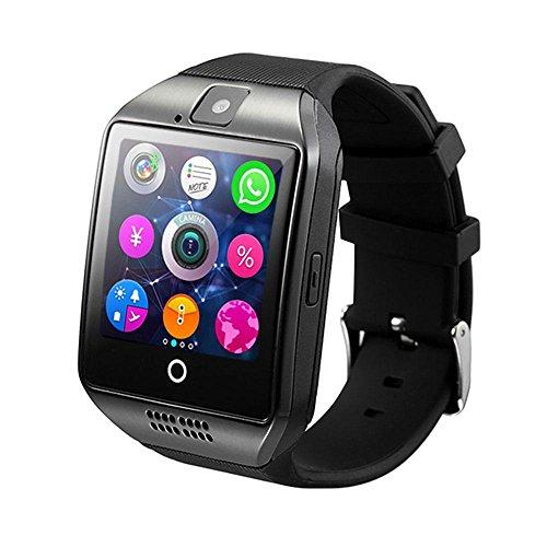 teepao Smart Watch, kabellose Bluetooth-schweiß-Schrittzähler Smartwatch mit Sleep Monitoring System und HD-Display, Facebook SMS Sync Reminder funktioniert auf ios Android (schwarz) Schwarz