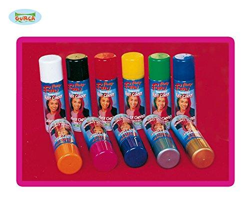 Farb Haarspray verschiedene Farben ca. 125 ml, Farbe:Gelb (Haarspray Gelb)